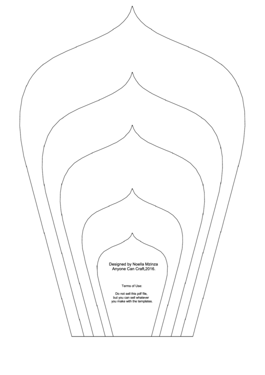Large Flower Petals Template - Spear-Shaped A4 Printable pdf