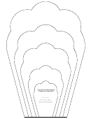 Large Flower Petals Template - Narrow Cloud-shaped