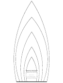 Large Flower Petals Template - Candle-shaped A4