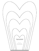 Large Flower Petals Template - Narrow Heart-shaped