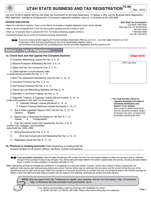 utah state tax forms and instructions