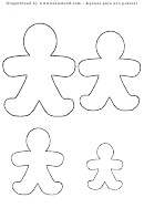 Gingerbread Man Outline Template
