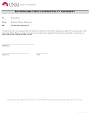 Background Check Confidentiality Agreement