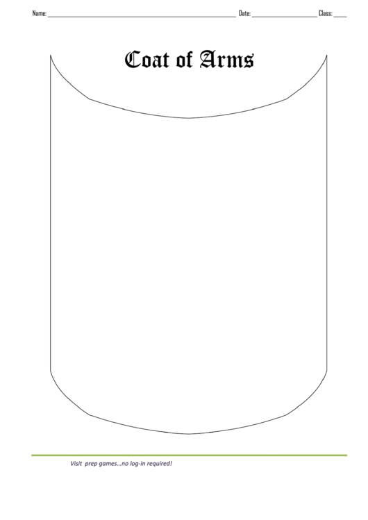 Simple Coat Of Arms Template Printable pdf