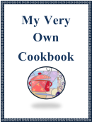 My Very Own Cookbook - Blue
