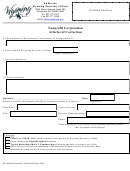 Nonprofit Corporation Articles Of Correction - Wyoming Secretary Of State