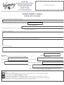 Limited Liability Company Articles Of Correction - Wyoming Secretary Of State