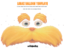 Lorax Balloon Template