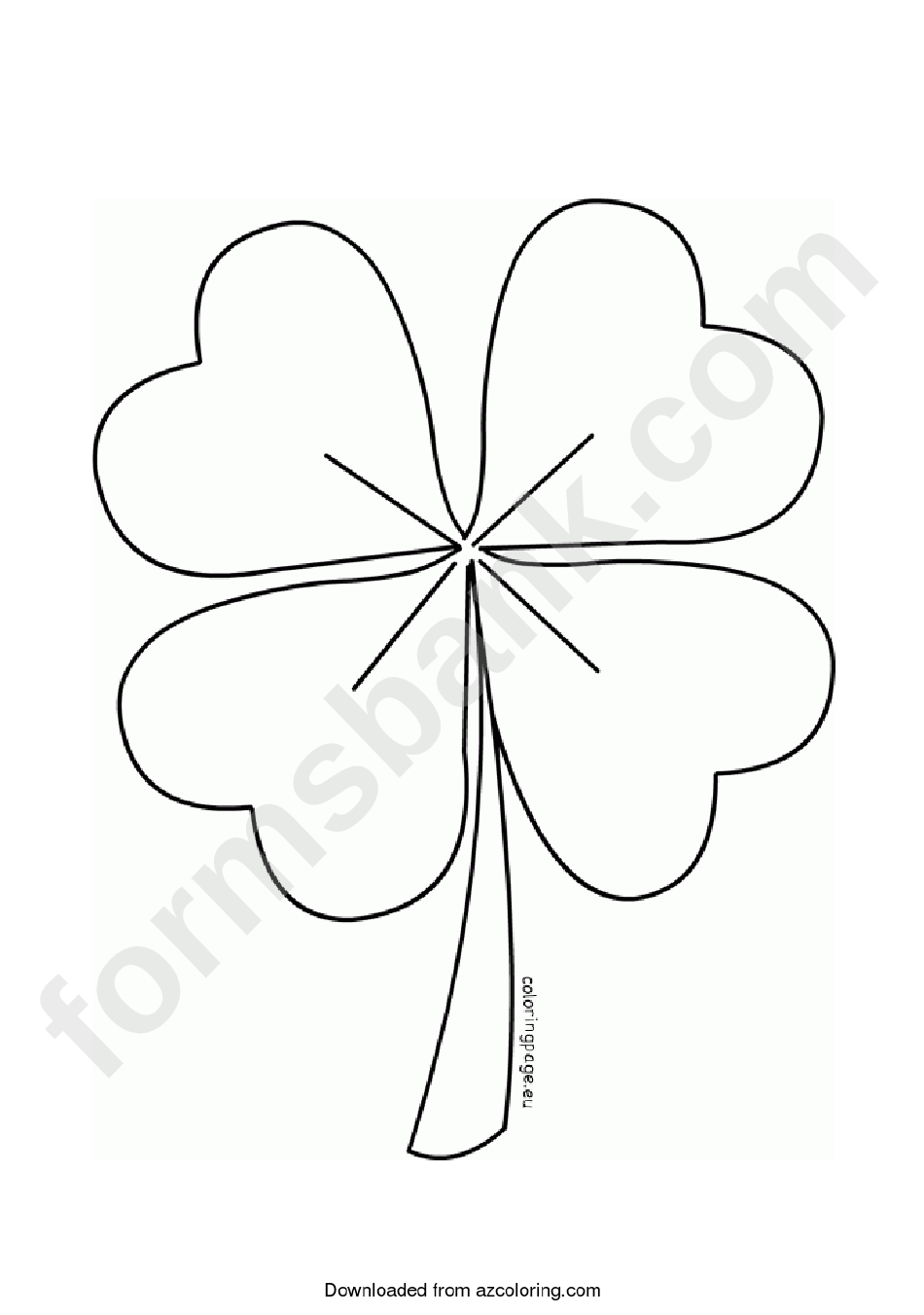 four leaf clover template printable pdf download