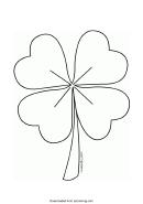 Four Leaf Clover Template