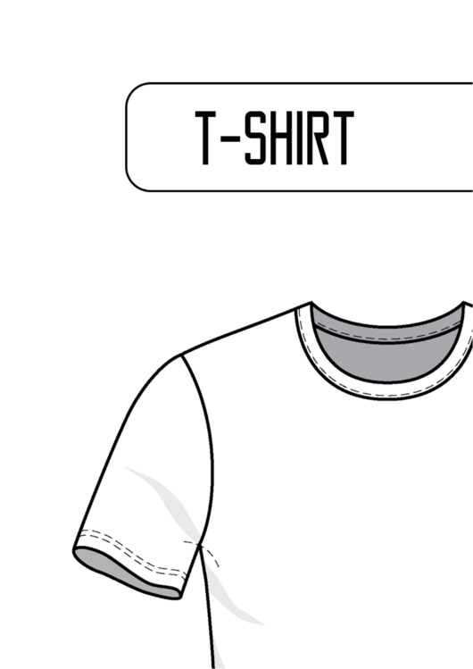 Blank T Shirt Templates Printable Pdf Download