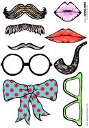 Photo Booth Prop Templates