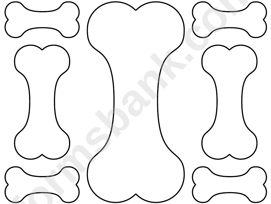 dog bone template - 550×425