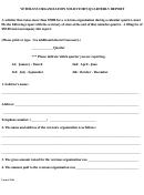 Veterans Organization Solicitors Quarterly Report - Texas Secretary Of State