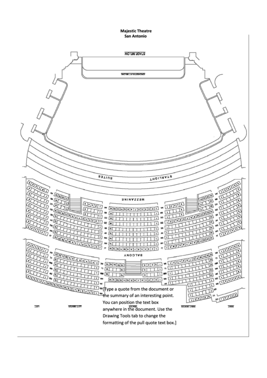 majestic theater san antonio seating chart printable pdf