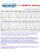 Seasoft Drysuit/wetsuit Size Chart