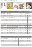 Babu Sizing Chart For Clothing