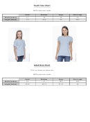 Developed Dance Company Clothing Size Chart