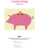 Cross Stitch Graph Paper Pig