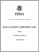 Fema Form 086-0-33 Elevation Certificate