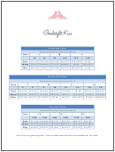 Goodnight Kiss Clothing Size Chart