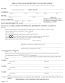 Application For Appointment As Notary