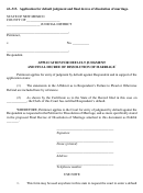 Application For Default Judgment And Final Decree Of Dissolution Of Marriage
