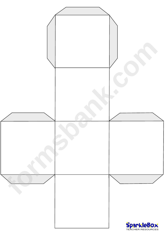 Blank Large Dice Template printable pdf download