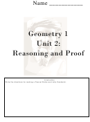 Cornell Notes Template Geometry 1 Unit 2: Reasoning And Proof