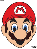 Mario Mask Template