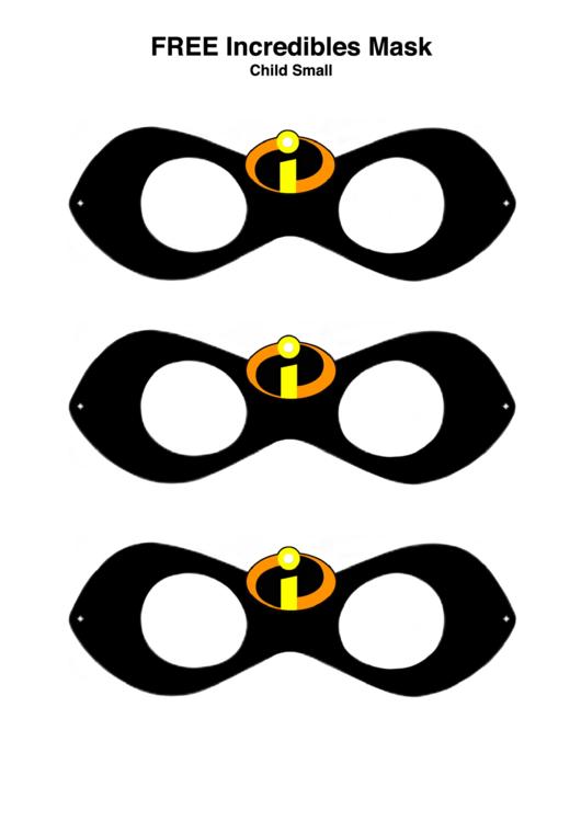 Incredibles Mask Templates Printable pdf