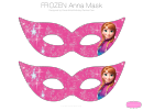Frozen Anna Mask Template