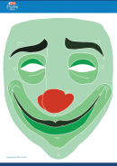 Clown Mask Template