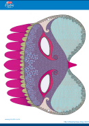 Peacock Mask Template
