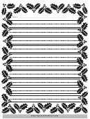 Christmas Writing Paper With Decorative Borders