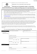 B-9 Form Application For An Australian Travel Document