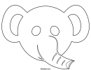 Elephant Mask Template To Color