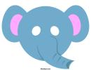 Elephant Mask Template
