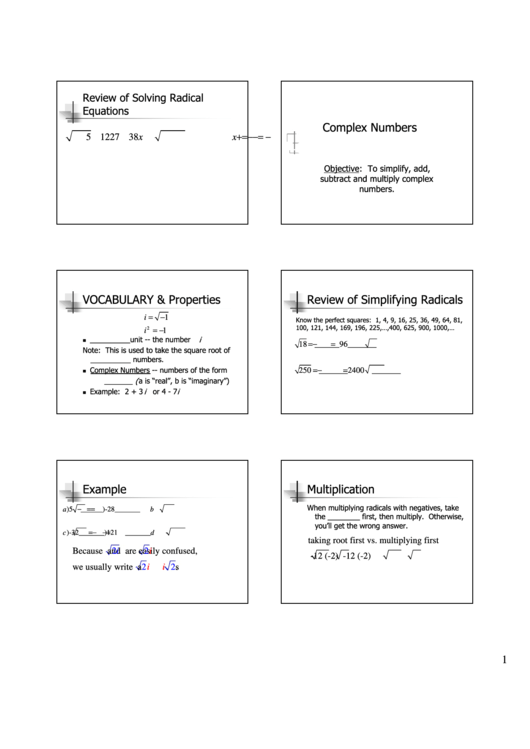 complex numbers vocabulary properties worksheet printable pdf download. Black Bedroom Furniture Sets. Home Design Ideas