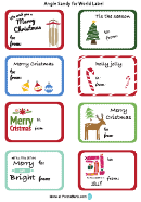 Christmas Gift Label Templates