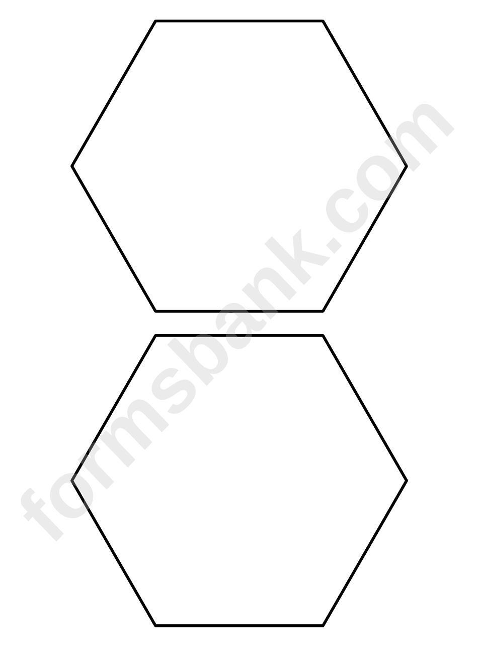 5 inch hexagon pattern printable pdf download for 1 5 inch hexagon template