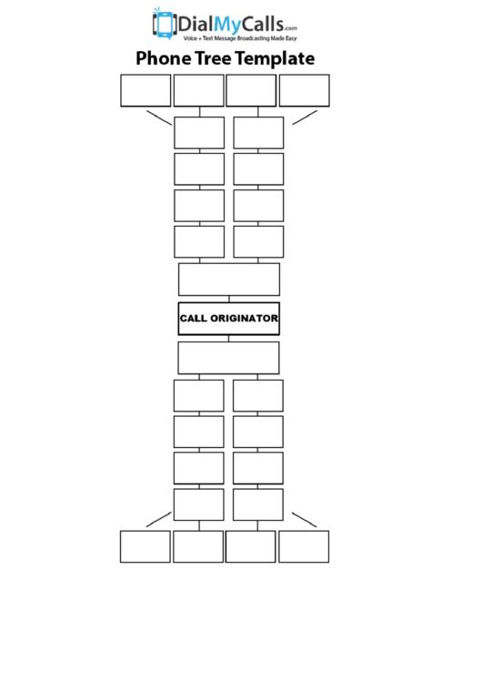 Basic Phone Tree Template Printable pdf
