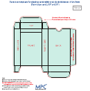 Card Box Template -20.5 Mm Thickness