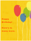Birthday Party Sign Template