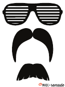 Mustache And Glasess Template