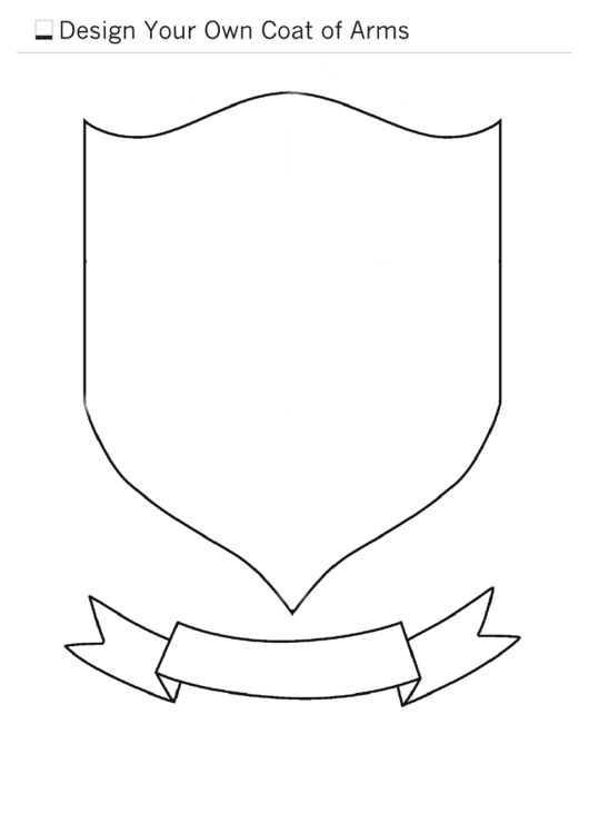 design your own coat of arms template printable pdf download