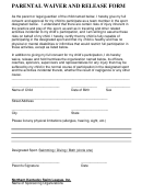 Parental Waiver And Release Form