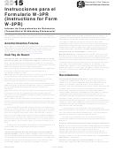 Instrucciones Para El Formulario W-3pr (instructions For Form W-3pr) - 2015