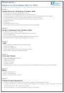 Maths Higher Syllabus Equivalency Testing