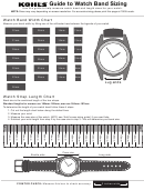 Kohl's Guide To Watch Band Sizing